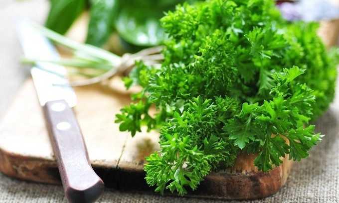 Украсить столь полезный салат можно зеленью петрушки