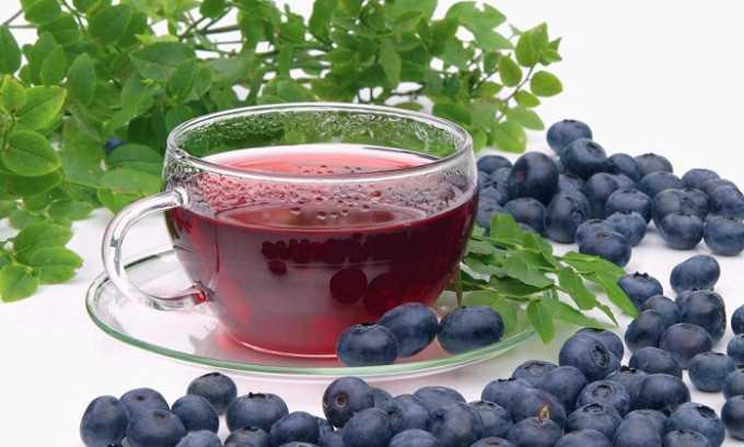 Отвар черники готовят из 1 ст. л. ягод кипятят в 200 мл воды 10 минут, пьют 3 раза в день