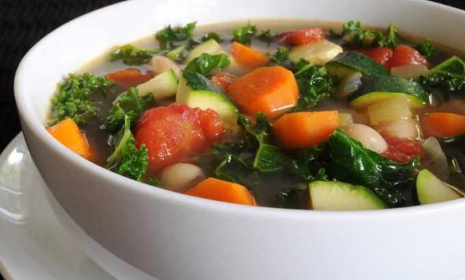 В рационе должны присутствовать овощные супы