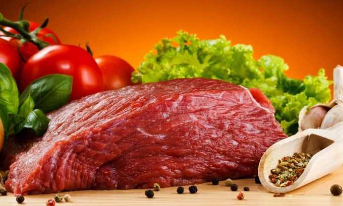Белковую диету дополняют мясные продукты. Допускаются к употреблению говядина