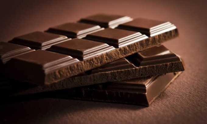 Шоколад и продукты на его основе тоже исключаются при заболевание поджелудочной железы
