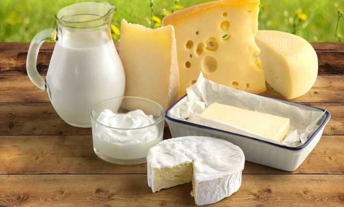 При заболевании следует употреблять молочные продукты, которые содержат необходимый организму животный белок