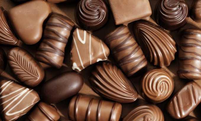 Необходимо отказаться также от шоколада
