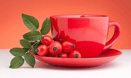 Самый полезный витаминный напиток в период обострения панкреатита - отвар плодов шиповника, богатого витамином С