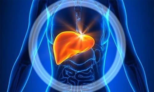 При хронической форме болезни осложнения развиваются в печени, которая тесно связана с поджелудочной железой