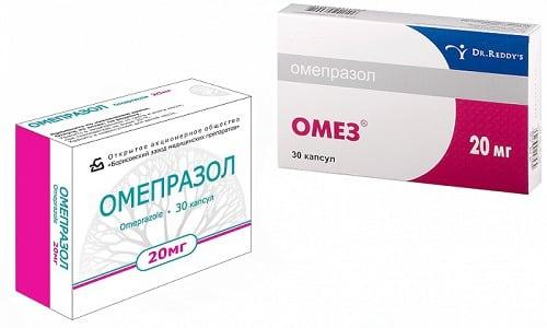 Лечение язвы желудка заключается в применении противоязвенных средств Омеза или Омепразола, которые нормализуют выработку соляной кислоты