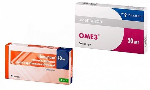 Язву органов ЖКТ и панкреатит можно лечить с помощью препаратов Омез или Нольпаза